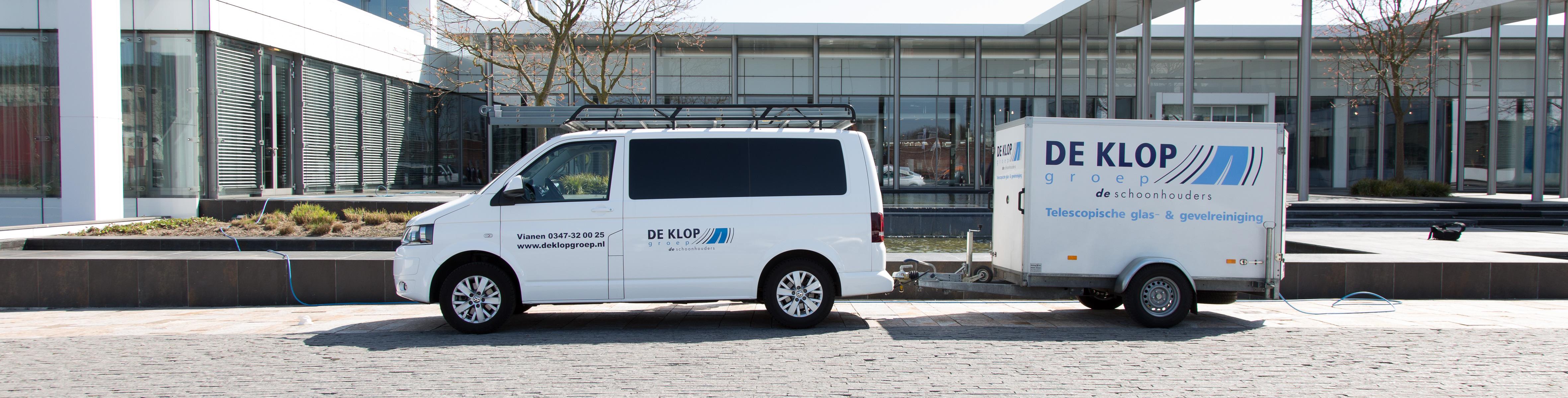 Deklopgroep glasbewassing gevelreiniging bedrijfspanden in Nederland